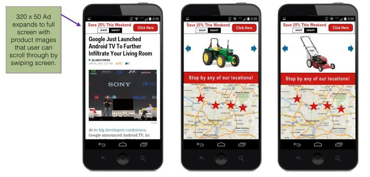 Image of mobile display ad