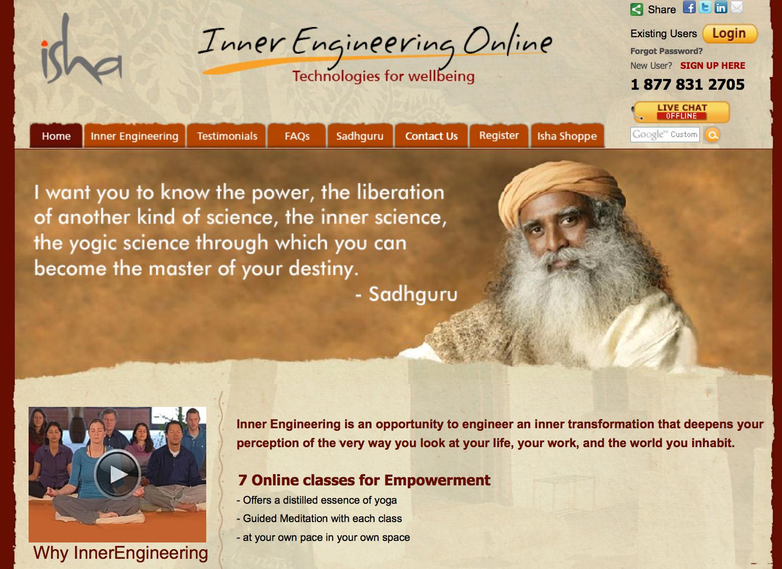 Image of original website