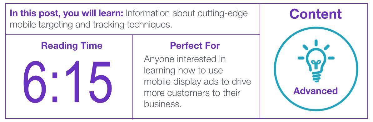 Image of mobile display ad post