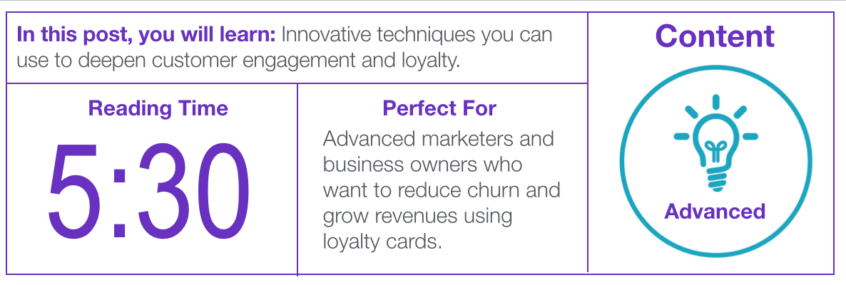 Blog post about loyalty cards